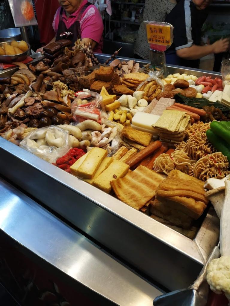 林家滷味の屋台の品々
