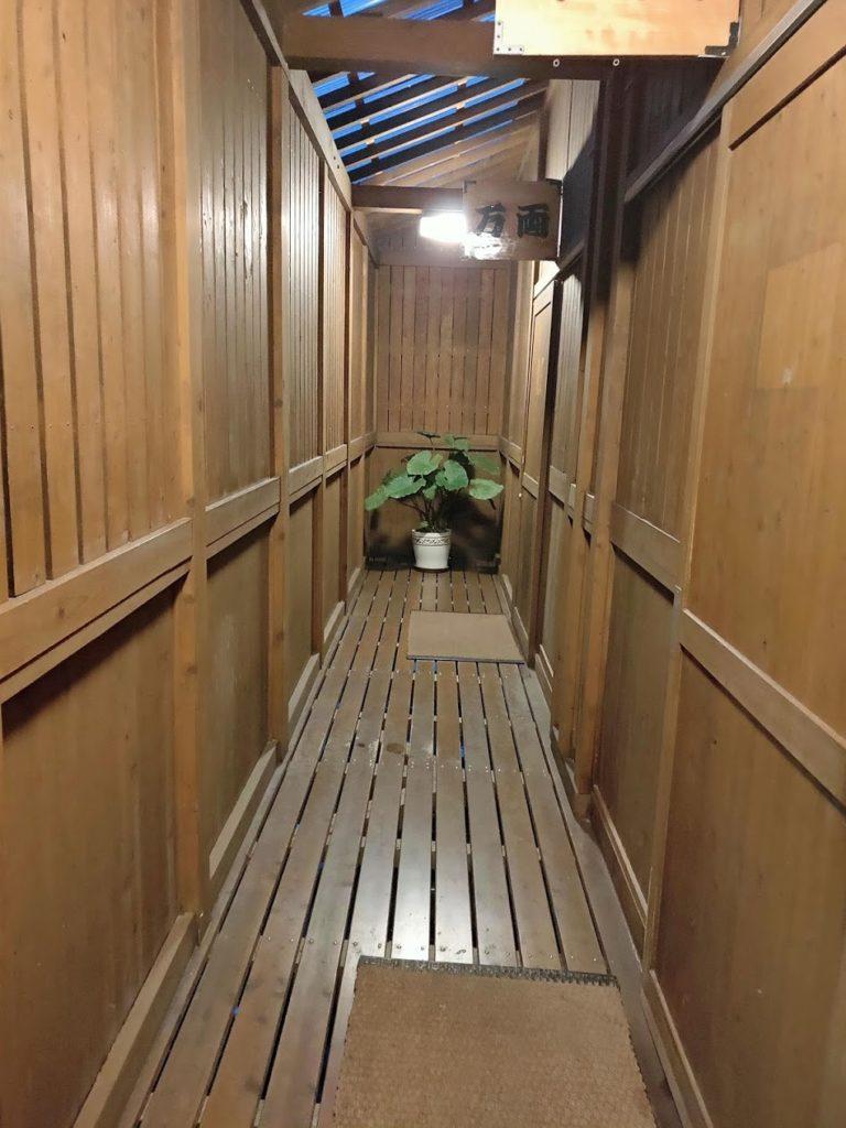 湯快感花やしきの屋上露天風呂入り口