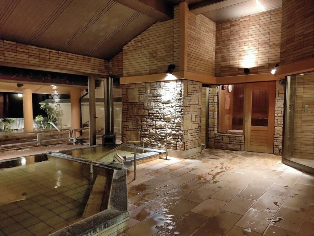 華水亭の新館の内風呂サウナ