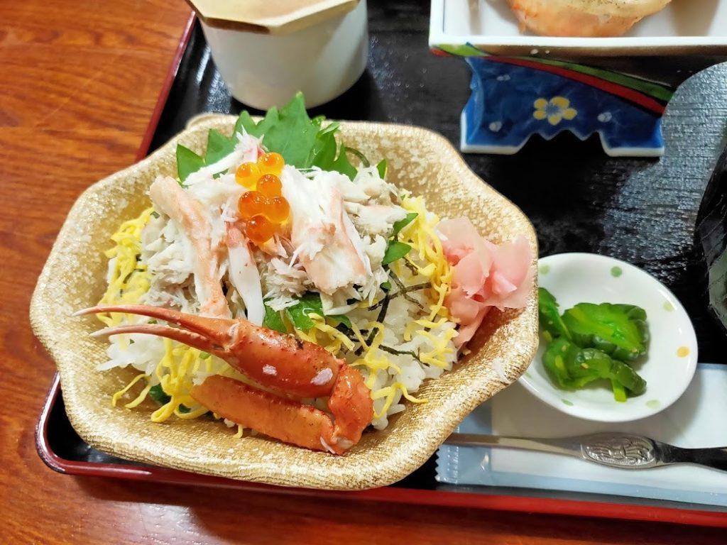 お食事処かいがんカニセット蟹丼