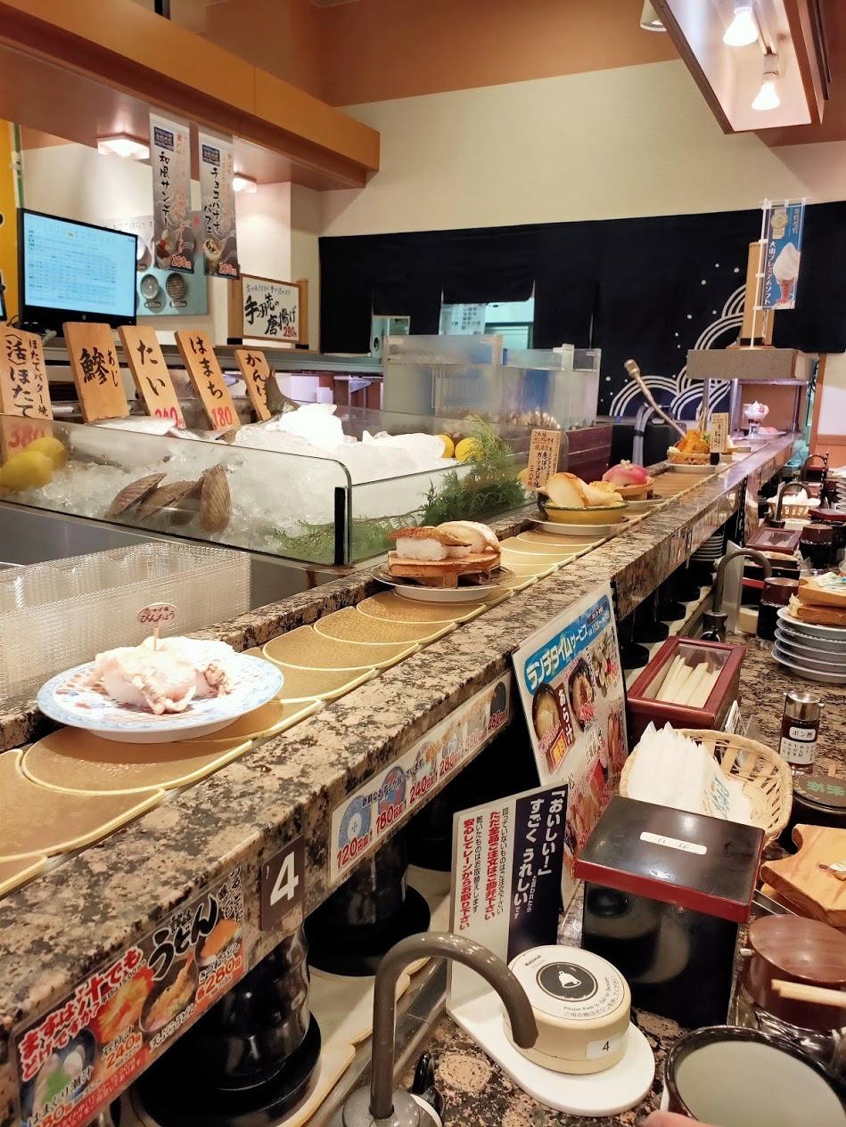 回転寿司北海道店内の様子