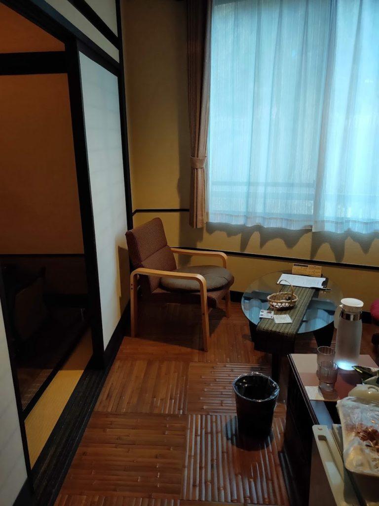 湯村温泉寿荘の部屋の様子