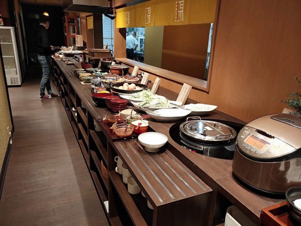 湯村温泉寿荘の朝食
