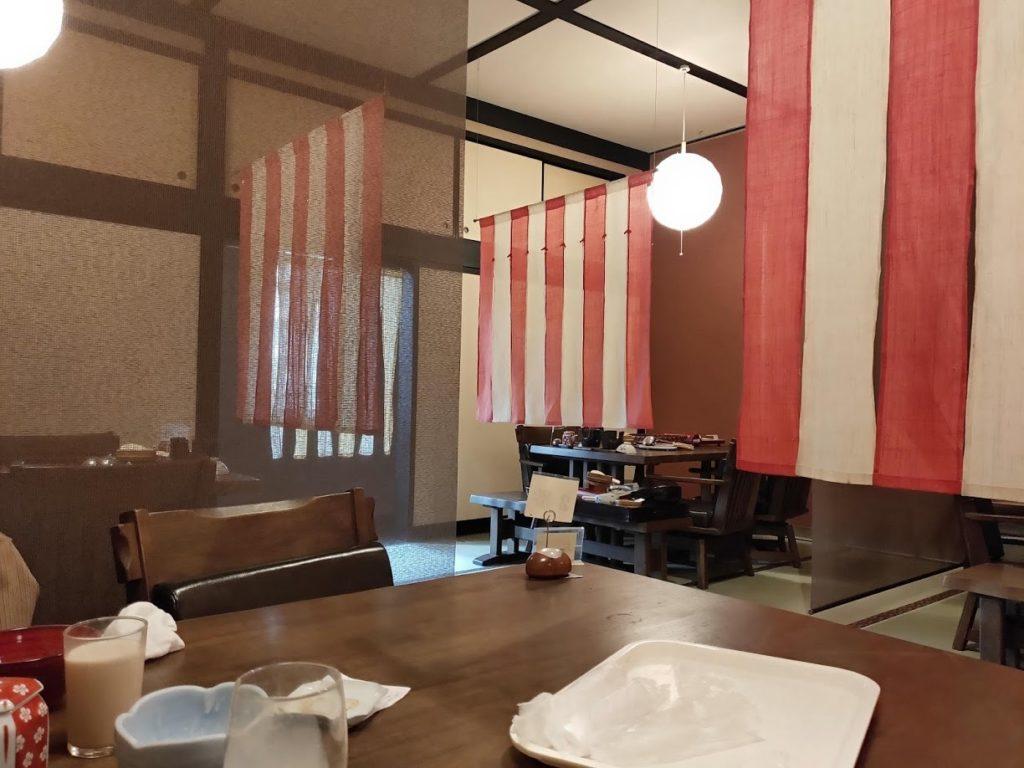 湯村温泉寿荘の食事会場