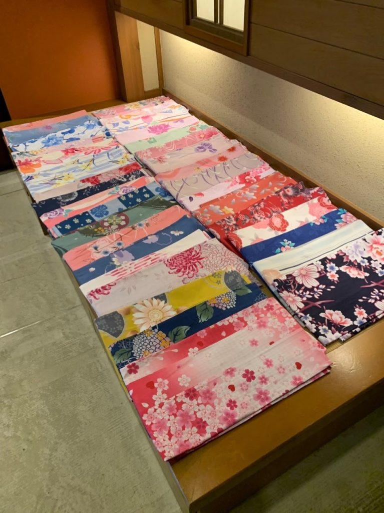 湯村温泉寿荘の女性用浴衣