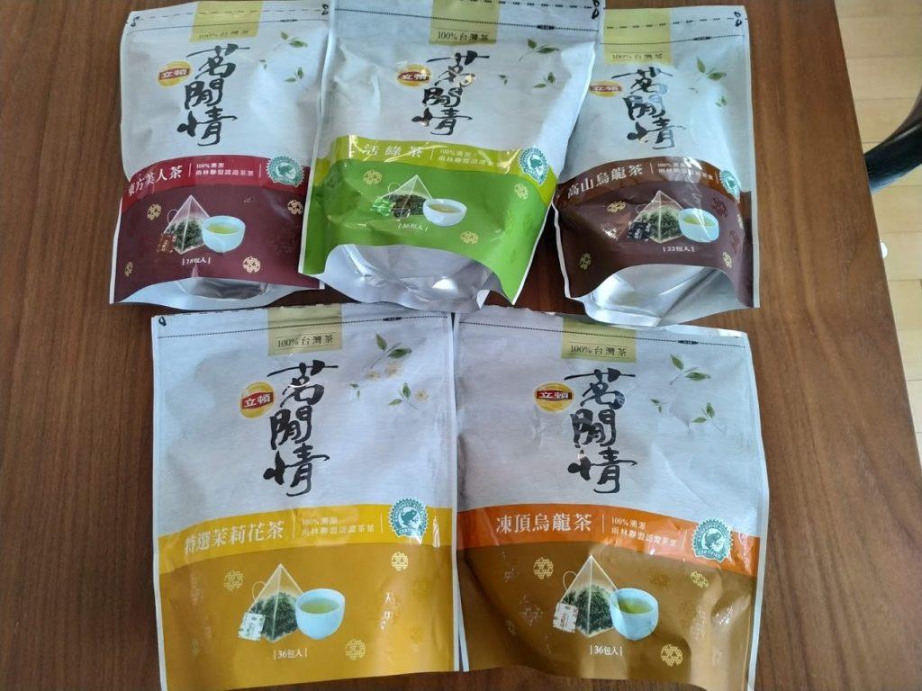 台湾茶リプトン5種類平面写真