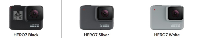 GoProの比較画像