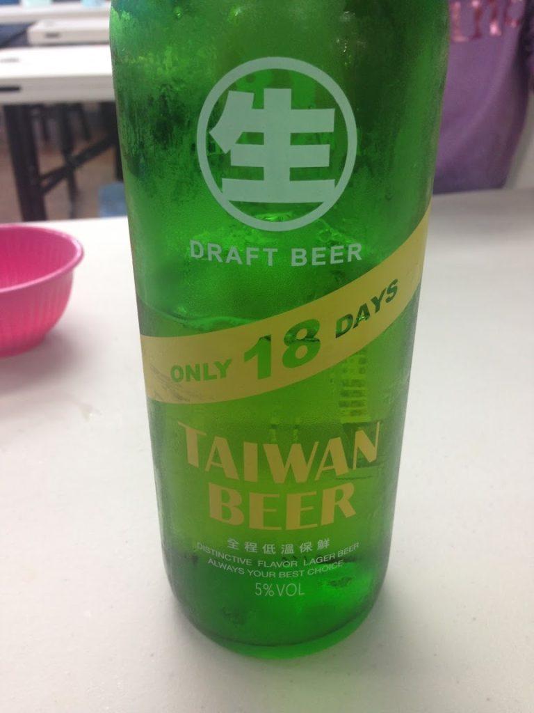 台湾ビール18daysの瓶