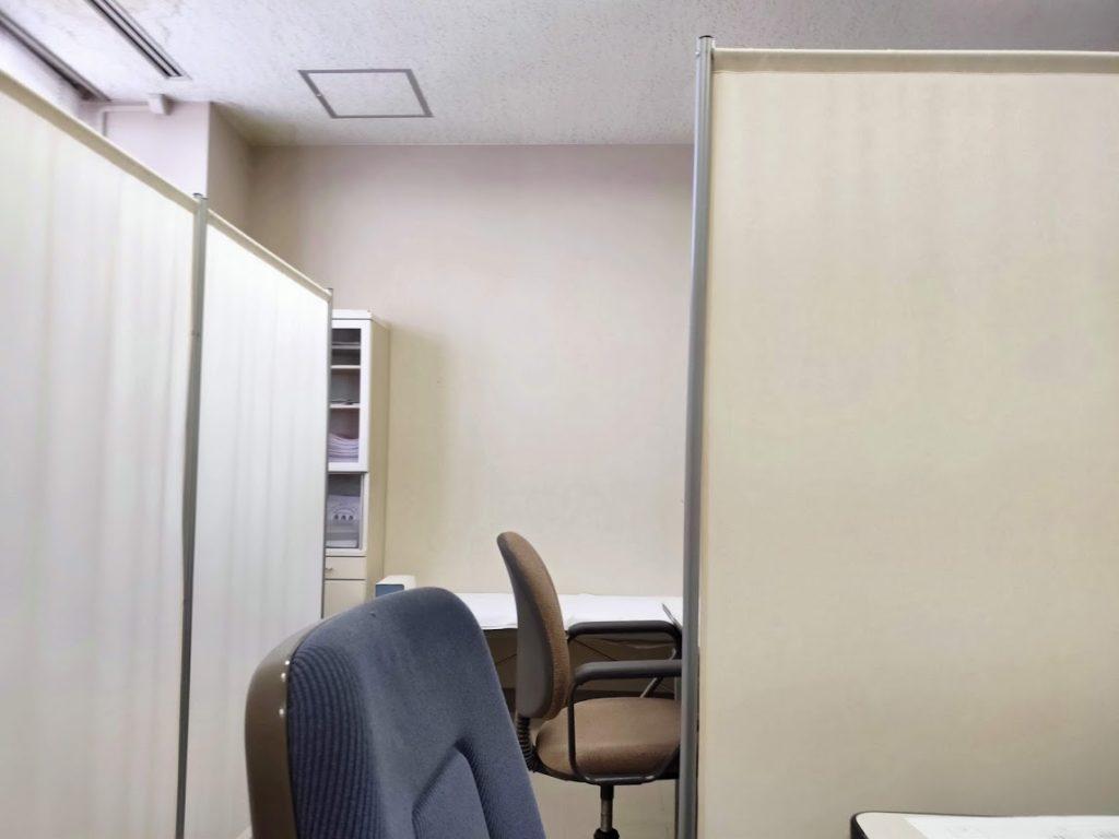 エイズ梅毒検査の検査を受ける部屋