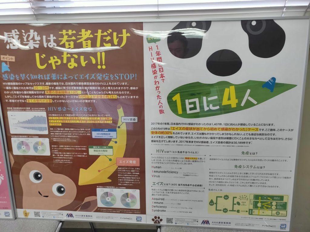 エイズ梅毒検査のポスター1