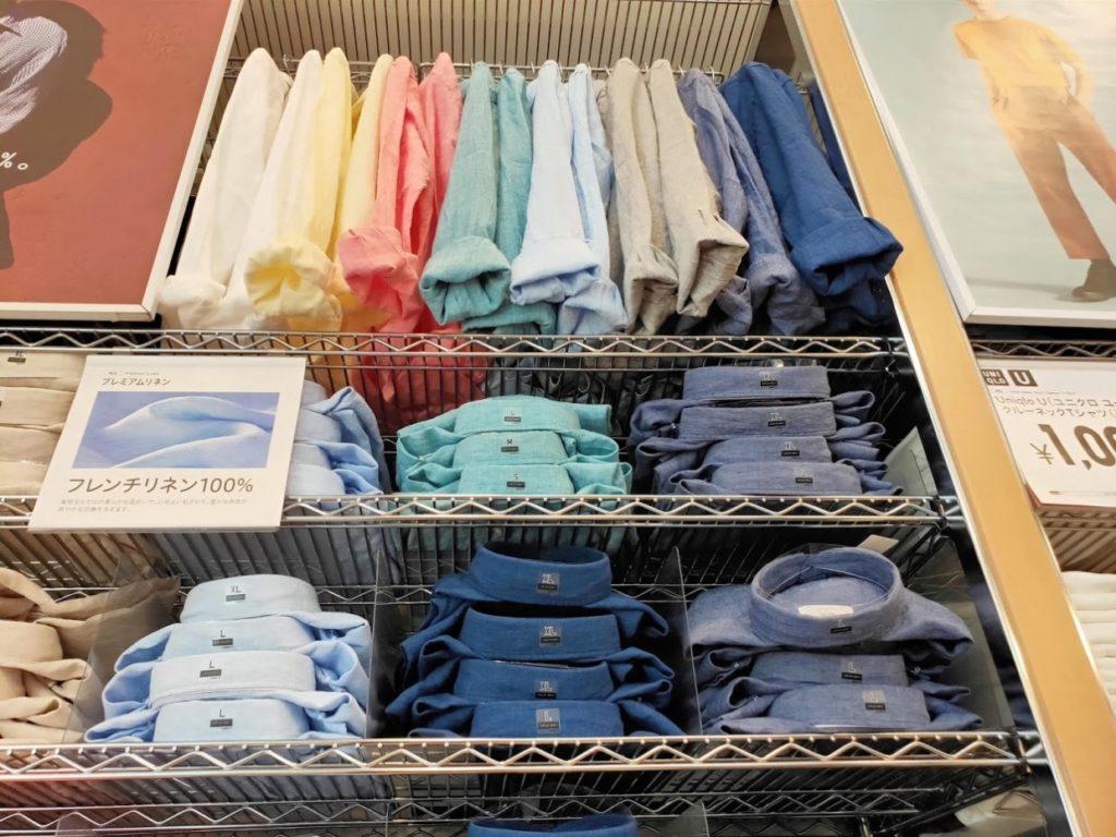 ユニクロプレミアムリネンシャツ全カラー