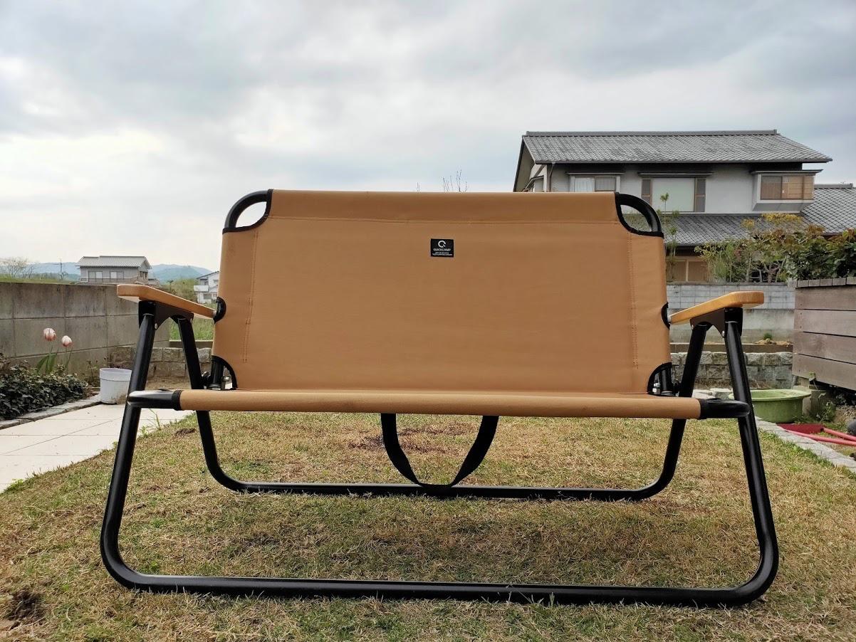 クイックキャンプの2人掛けベンチ