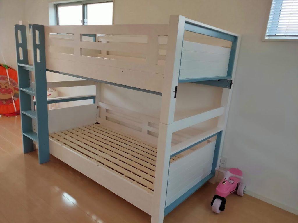 2段ベッド組み立て完成