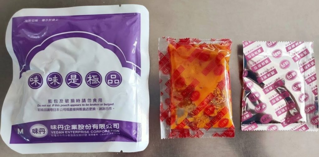 台湾インスタントラーメン味味一品の内容物