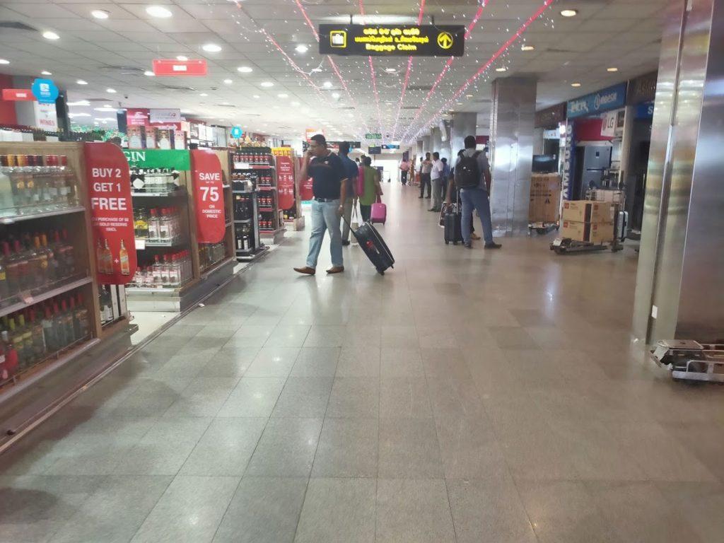 バンダラナイケ空港内の免税店