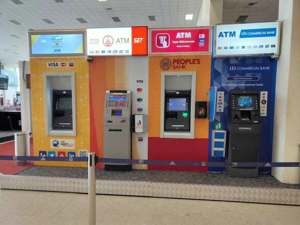 バンダラナイケ空港ATM機械