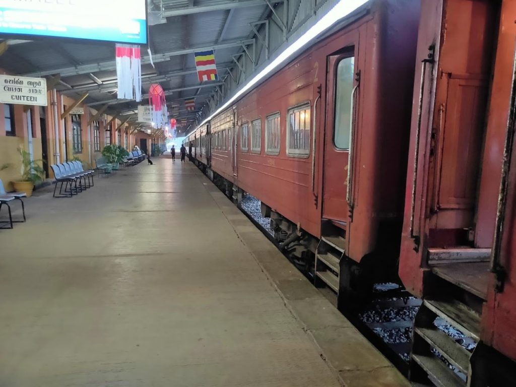 トリンコマリーからコロンボにいく列車