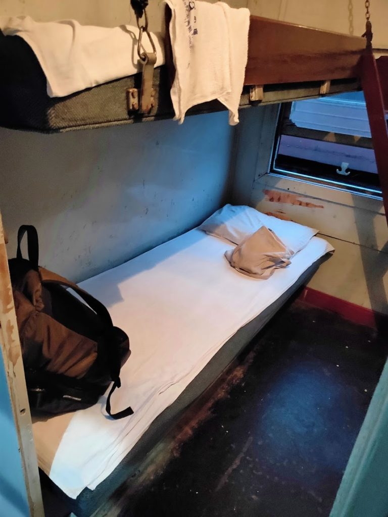 寝台列車のベッド