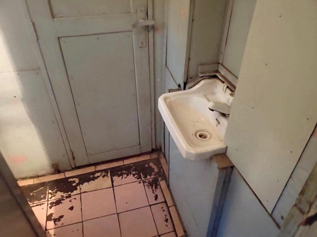 寝台列車のトイレの水栓