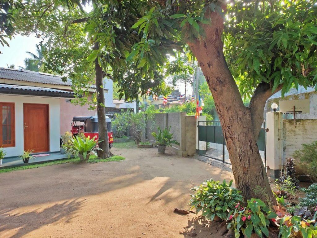 araniホームステイの掃除された庭