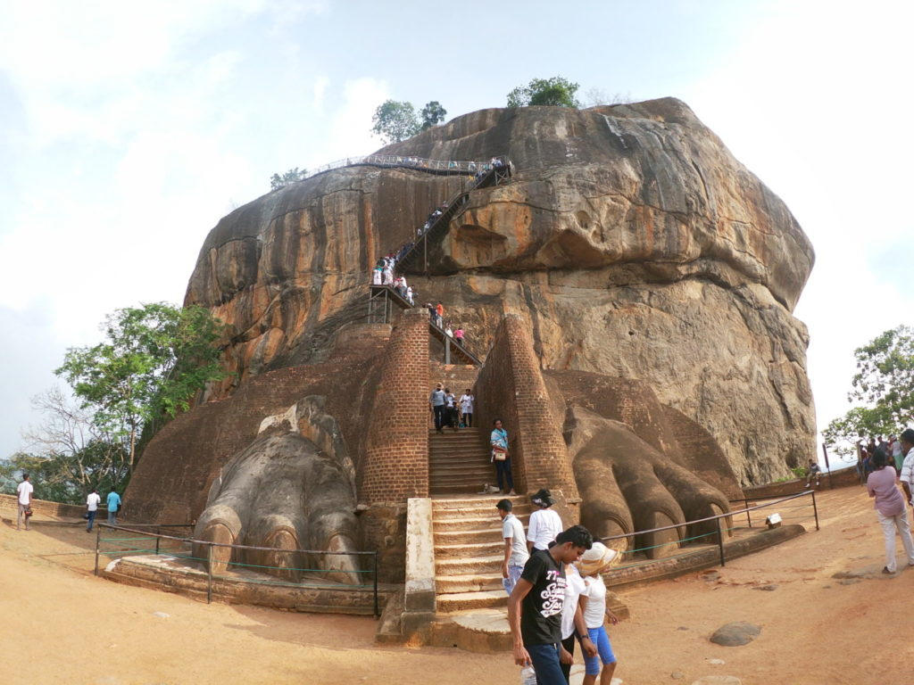 シギリヤロックの最後のライオン岩