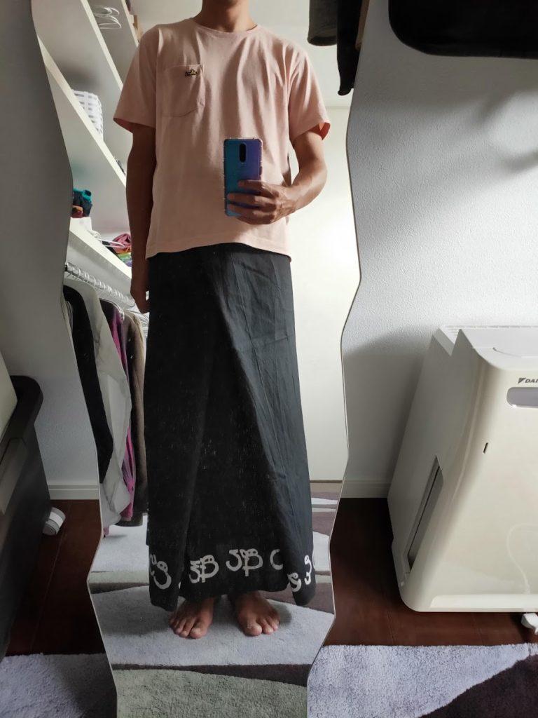 パラダイスロードのサロンを着たところ