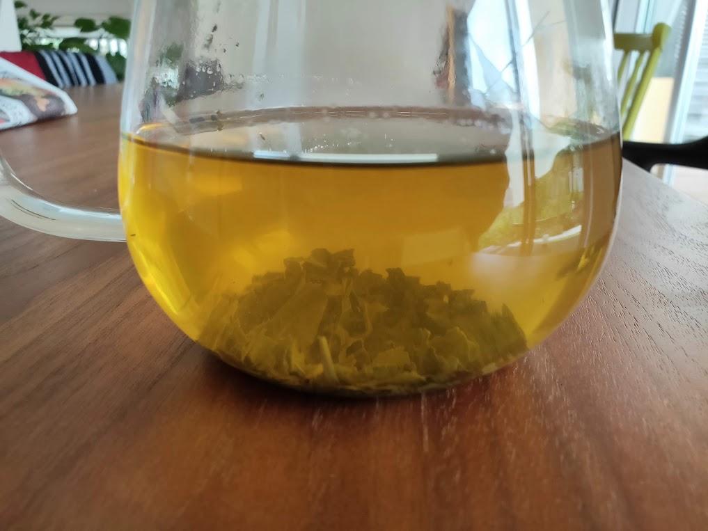 台湾リプトンの時間が経過した緑茶