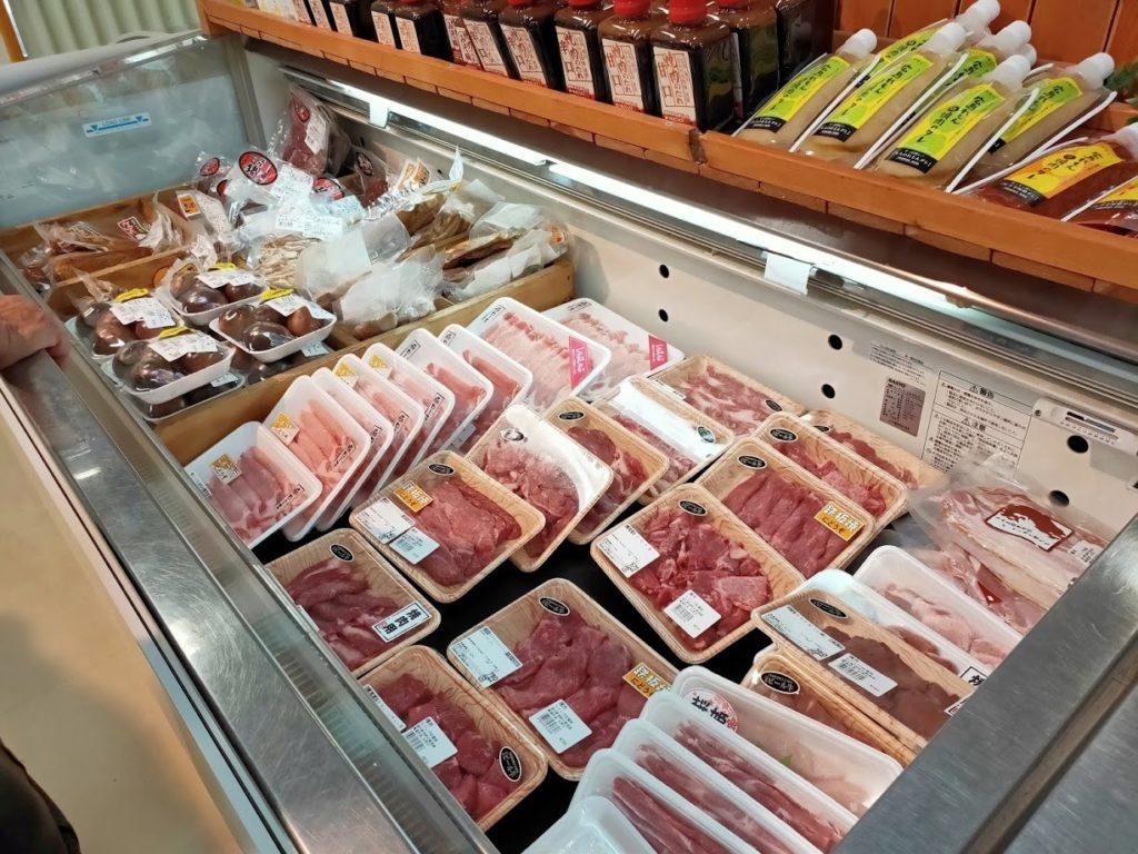 道の駅湖畔の里福富の肉販売