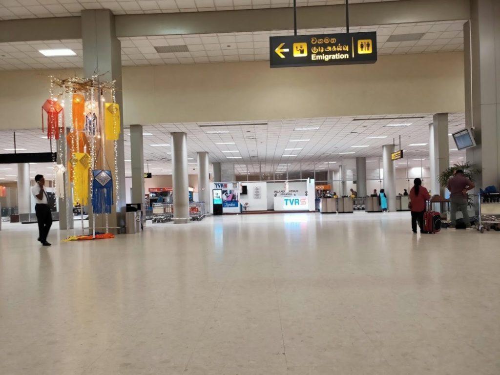 バンダラナイケ国際空港のイミグレーション