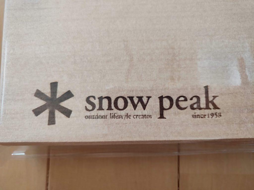 スノーピークのマナイタセットのロゴ