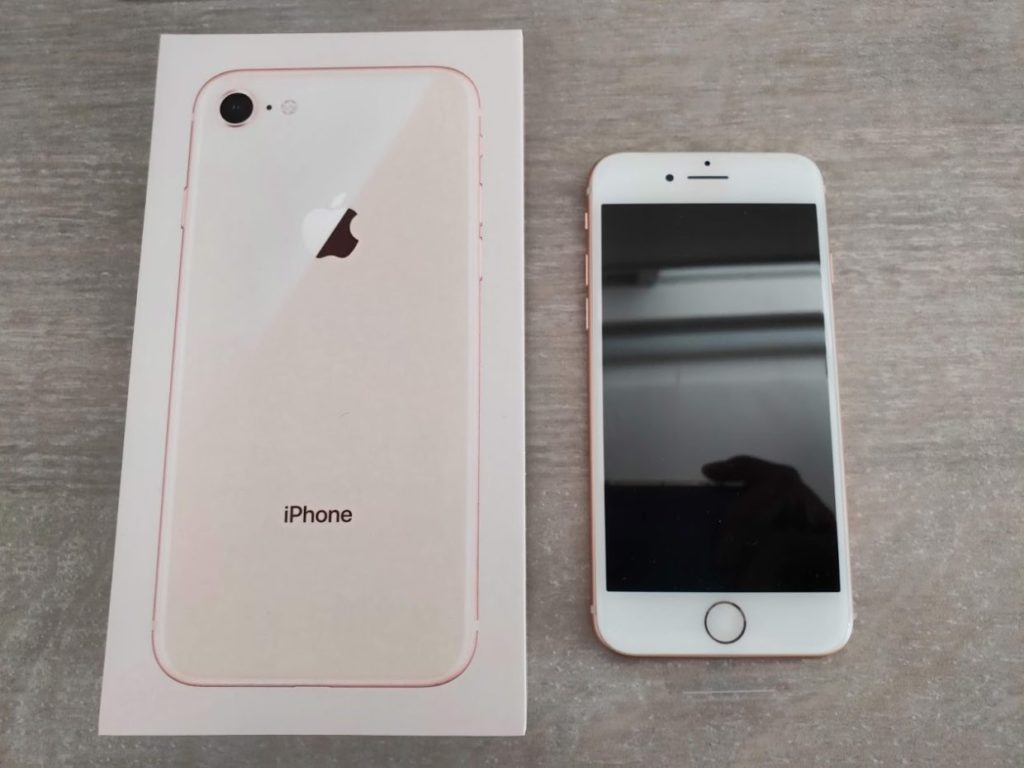 iphone本体と箱