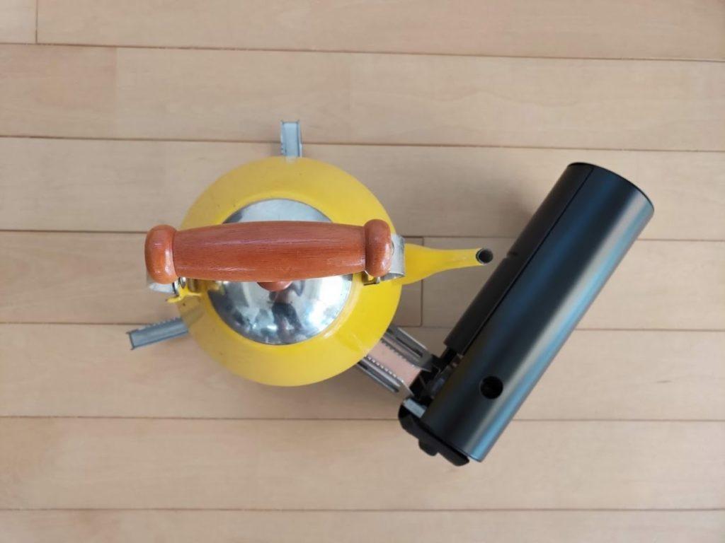 スノーピークガスバーナーを使用上からの画像