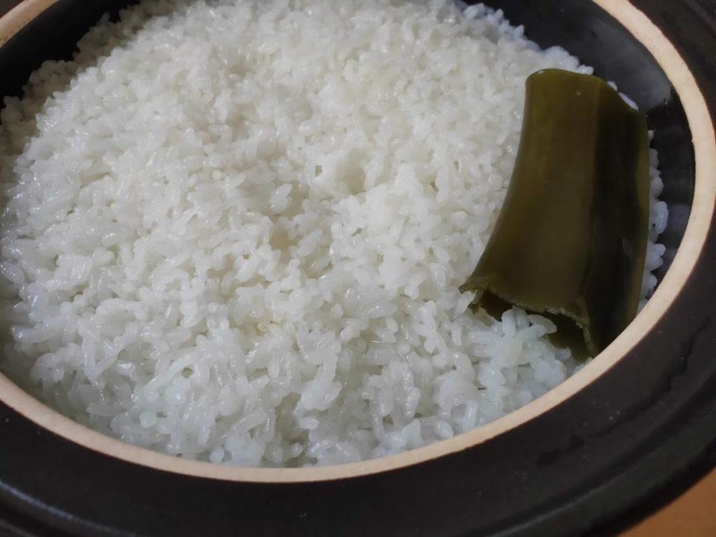土鍋で炊飯が完成1