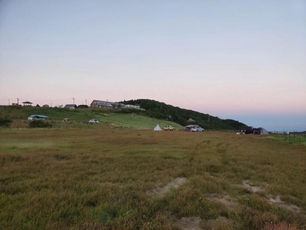 姫鶴平キャンプ場の朝日