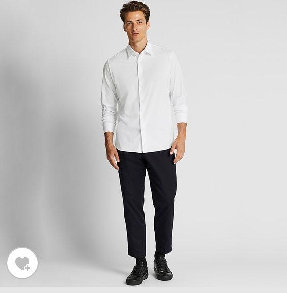 ユニクロイージーケアジャージシャツのHP画像2