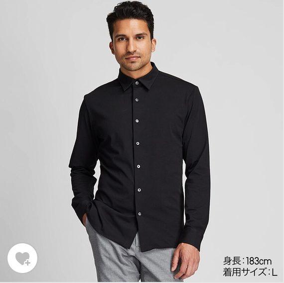 ユニクロイージーケアジャージシャツのHP画像1