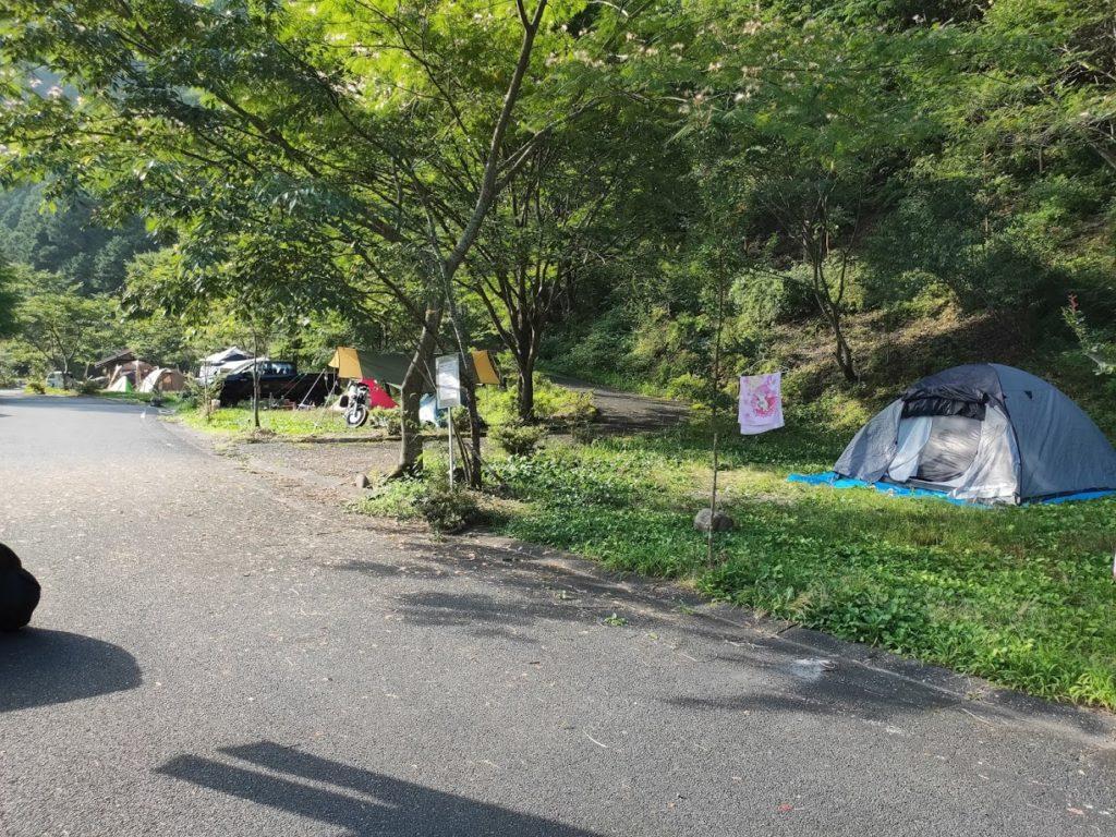 夢の森公園キャンプ場での朝の景色