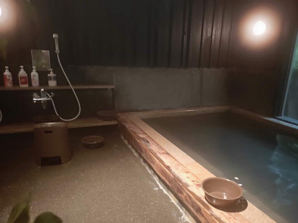 そうだ山温泉の内湯シャワー