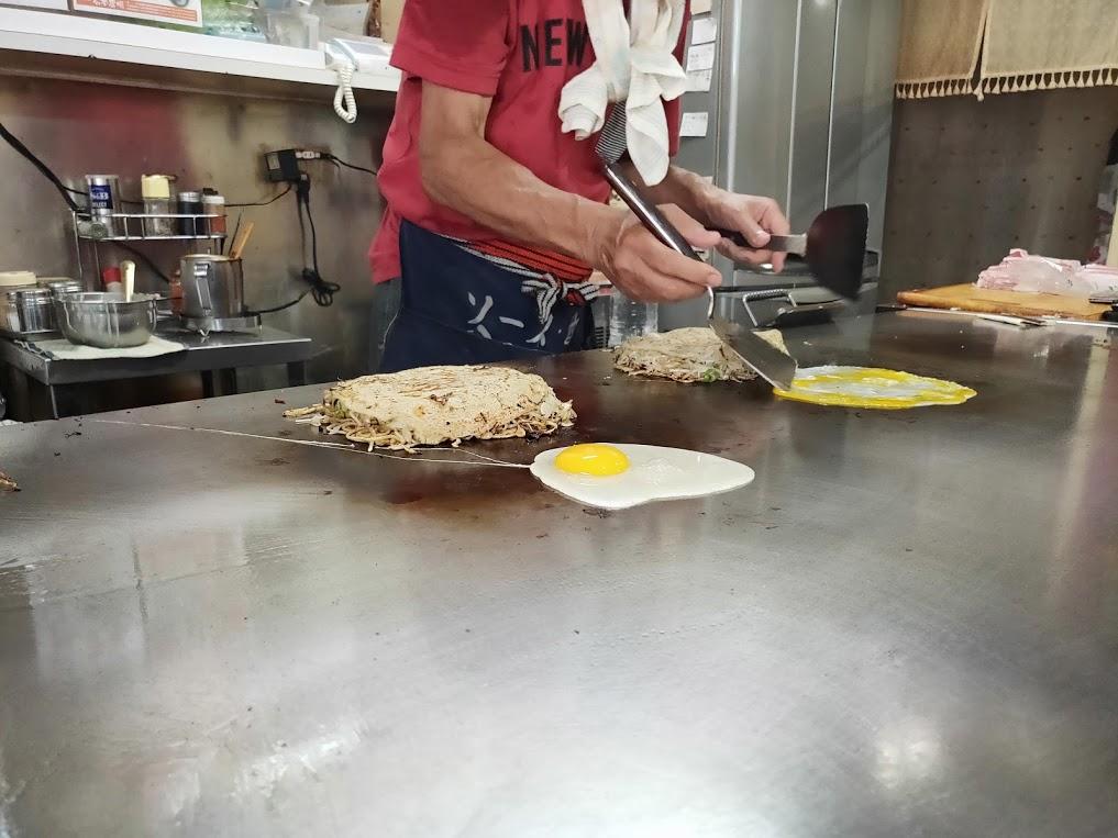 お好み焼きたんぽぽの調理4