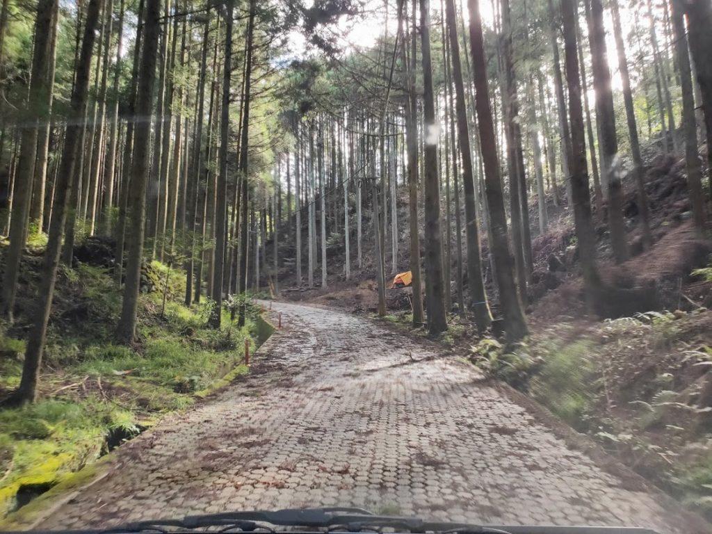 小鹿田焼に行く道