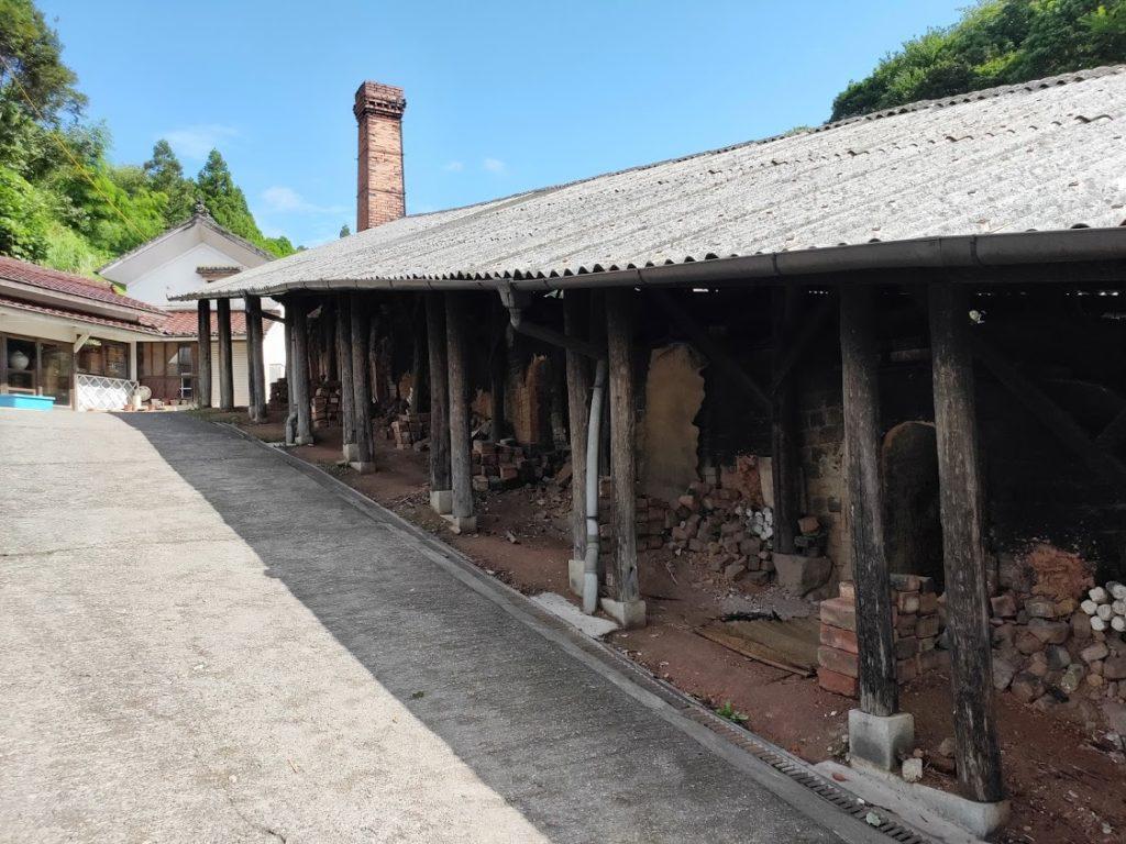 小鹿田焼の窯