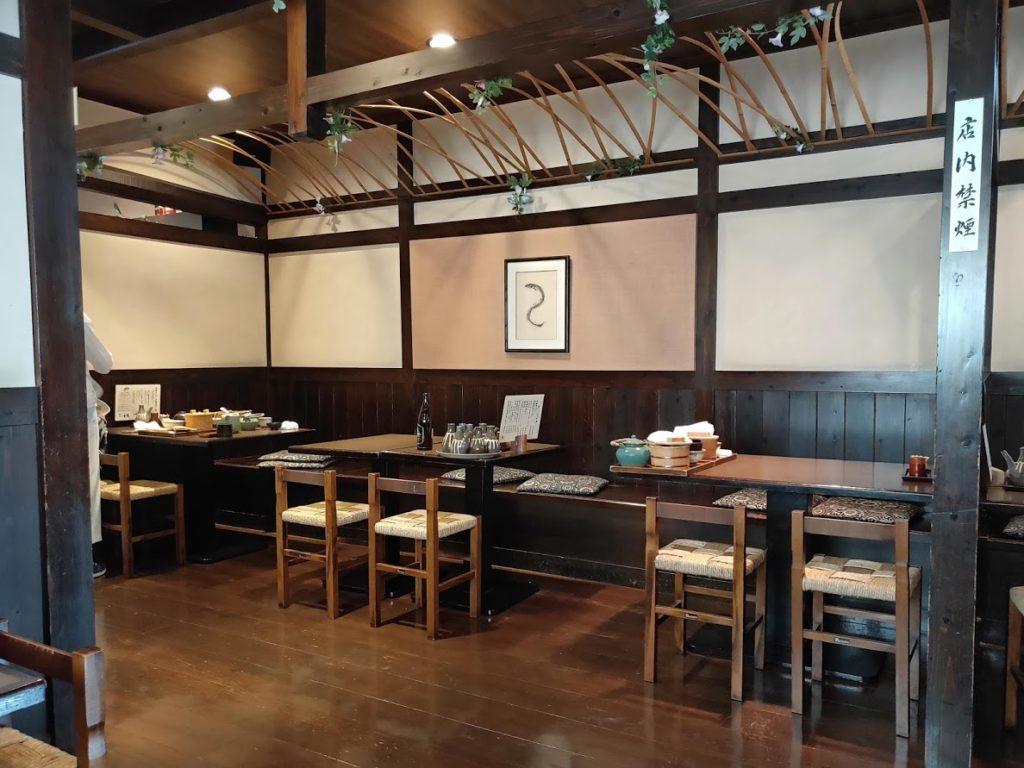 日田まぶし千屋の食べるテーブル