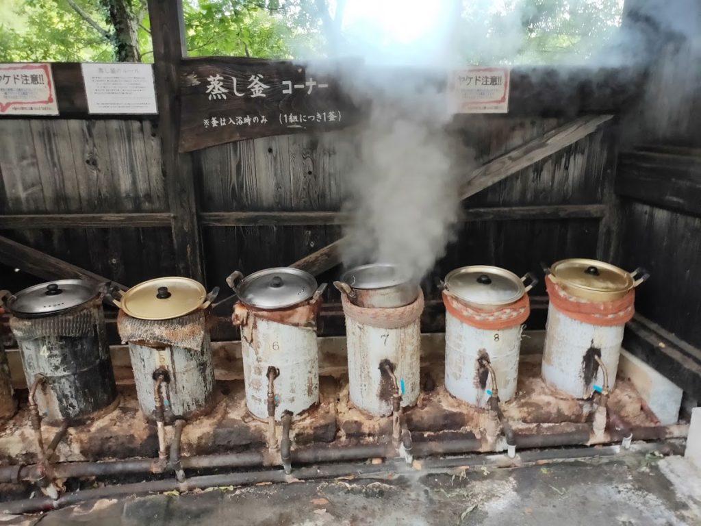 はげの湯温泉くぬぎ湯の蒸気鍋2