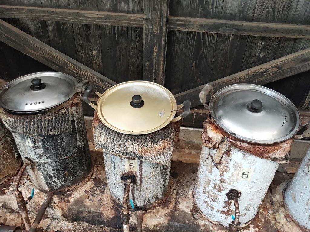 はげの湯温泉くぬぎ湯の蒸気鍋1
