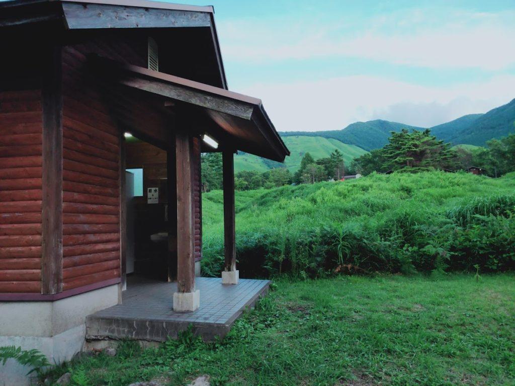 九重グリーンパーク泉水キャンプ村のトイレ