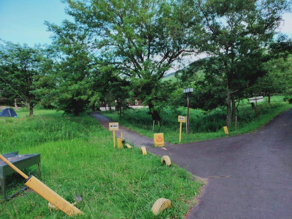 九重グリーンパーク泉水キャンプ村の温泉入り口