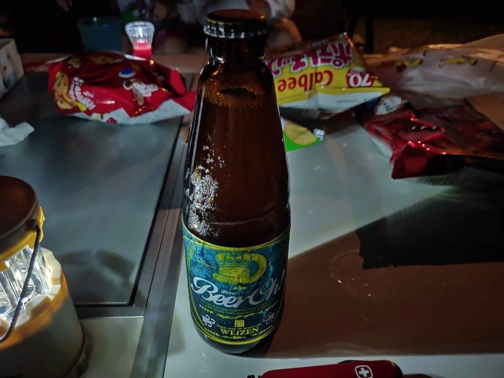 鍋の平キャンプ場での地ビール