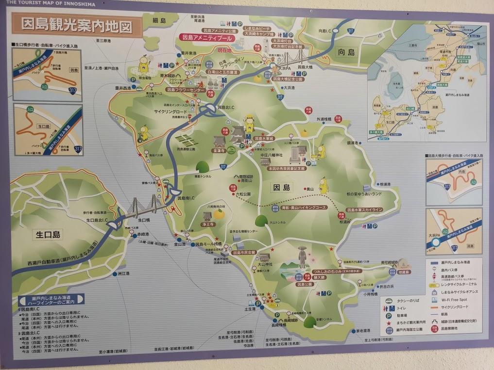 因島のマップ