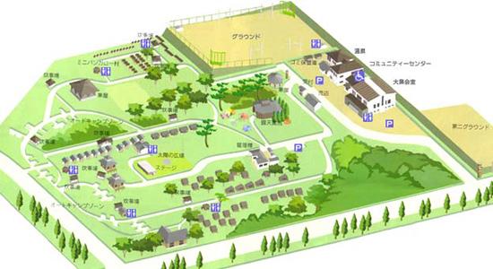 九重グリーンパーク泉水キャンプ村のHPマップ
