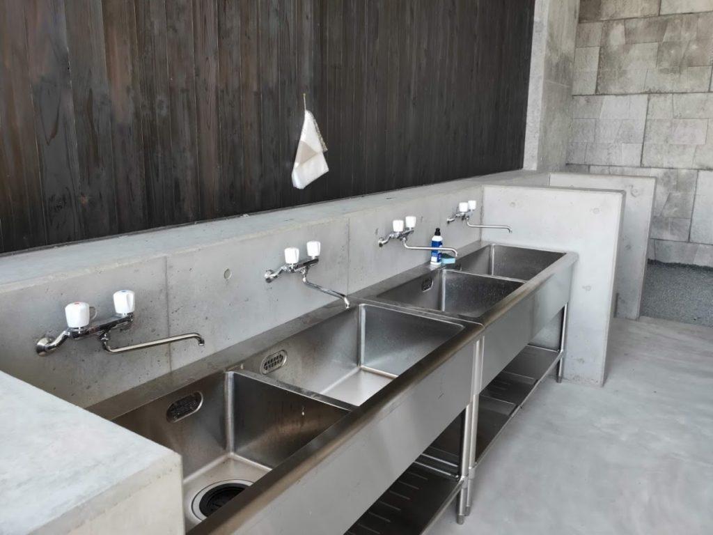 スノーピーク道の駅おちの住箱施設の洗面場所